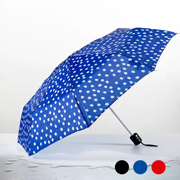 Skládací Deštník s Puntíky - Modrý
