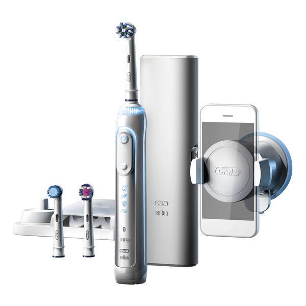 Elektrický zubní kartáček Oral-B 224133 Bluetooth 3D Waterproof Bílý Dobíjecí baterie