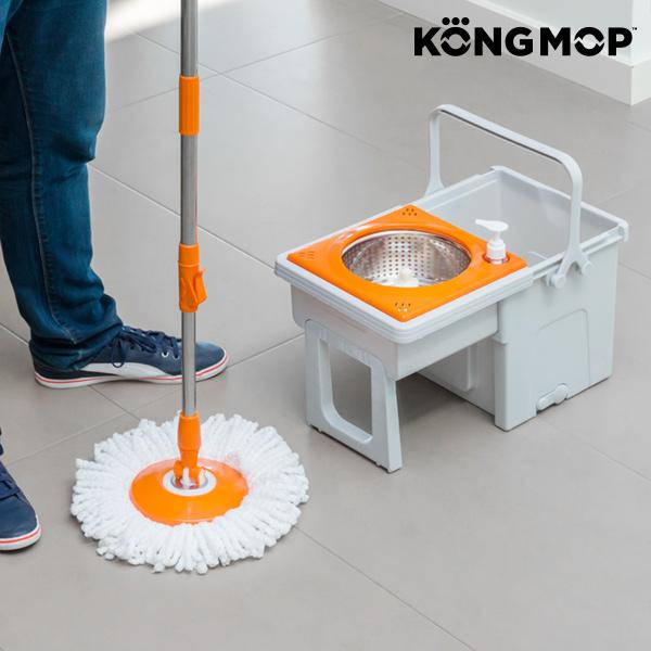 Mop Rotacyjny z Przesuwnym Wiadrem Kong Mop Easy