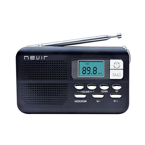 Přenosné rádio NEVIR NVR-127 D Černý
