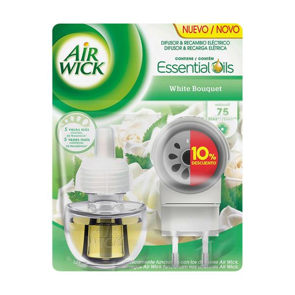 Elektrický Osvěžovač Vzduchu s Náhradní Náplní Air Wick White Bouquet