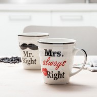 Hrnky Mr. Right & Mrs. Always Right