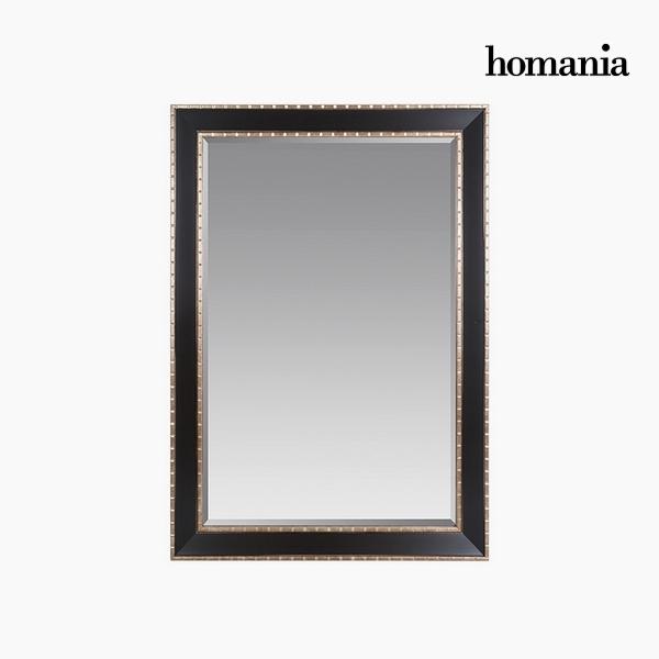 Lustro Żywica syntetyczna Szkło fazowane Srebro Czarny (76 x 3 x 106 cm) by Homania