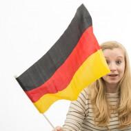 Flaga Niemiec z Masztem (46 x 30 cm)