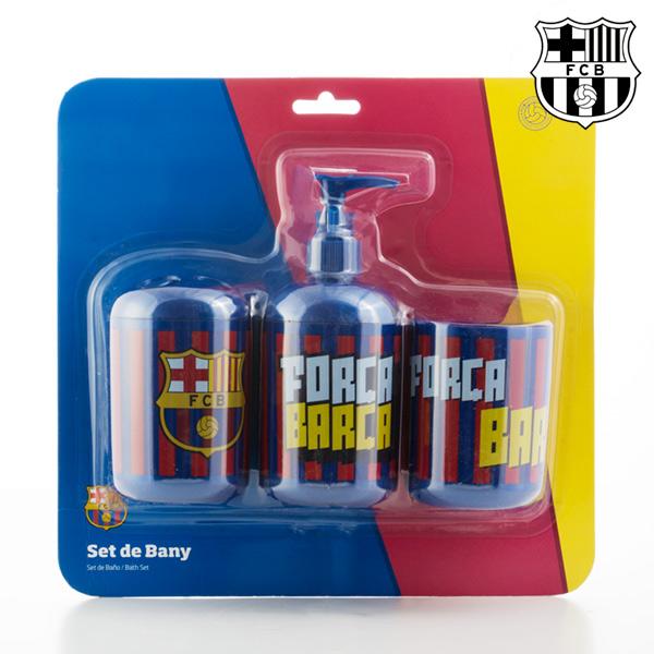 Akcesoria łazienkowe F.C. Barcelona (3 sztuki)