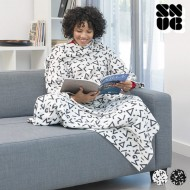Koc z Rękawami Symbols Snug Snug Big Kangoo - Biały