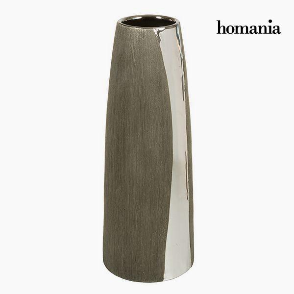 Wazon Ceramika Srebro Czarny - Serious Line Kolekcja by Homania
