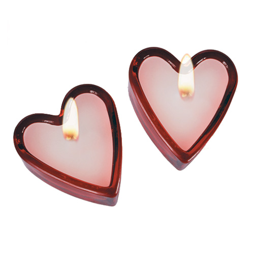 Zapachowe Świeczki w Kształcie Serca (2 w zestawie)