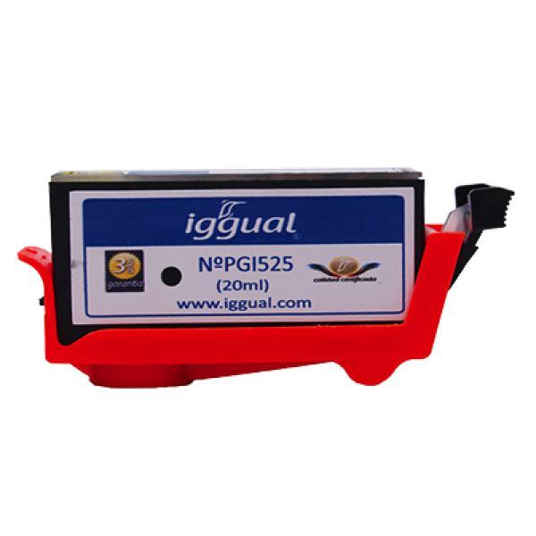 Recyklovaná Inkoustová Kazeta iggual Canon PSIPGI525 Černý