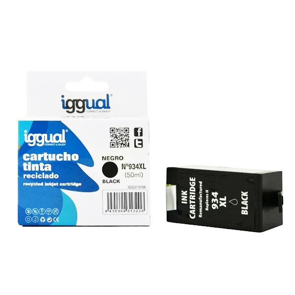 Recyklovaná Inkoustová Kazeta iggual HP IGG313206 Černý