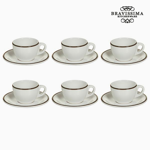 Tea set China crockery Bílý Kaštanová (12 pcs) - Kitchen's Deco Kolekce by Bravissima Kitchen