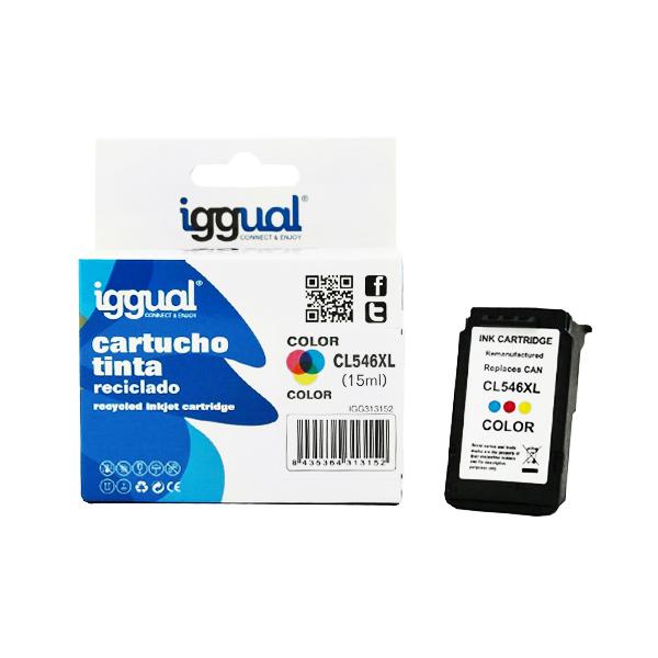 Recyklovaná Inkoustová Kazeta iggual Canon IGG313152 Barva