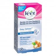 Voskové Depilační Pásky pro Citlivou Pokožku Veet Easy Gelwax (40 kusů)
