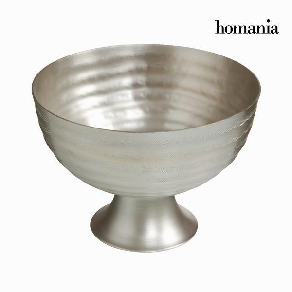 Dekoracja na Stół Puszka Srebrzysty (30 x 30 x 18 cm) - New York Kolekcja by Homania