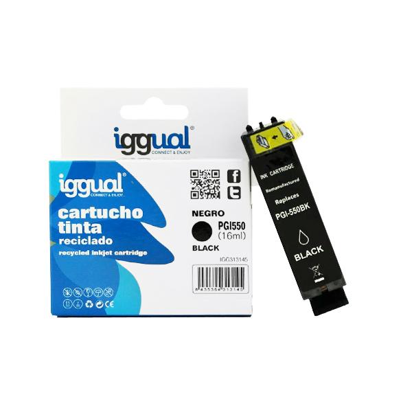 Recyklovaná Inkoustová Kazeta iggual Canon IGG313145 Černý