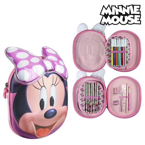 Piórnik potrójny Minnie Mouse 58447 Różowy