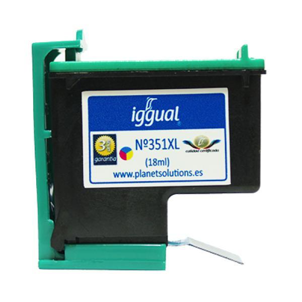 Recyklovaná Inkoustová Kazeta iggual HP PSICB338E Barva