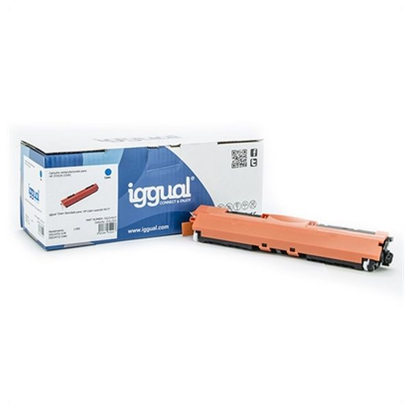 Toner z Recyklingu iggual IGG314227 HP 130X CF351X Cyan