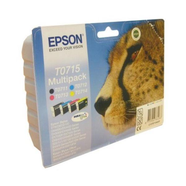 Originální inkoustové náplně Epson C13T07154010 Černý Žlutý Azurová Purpurová
