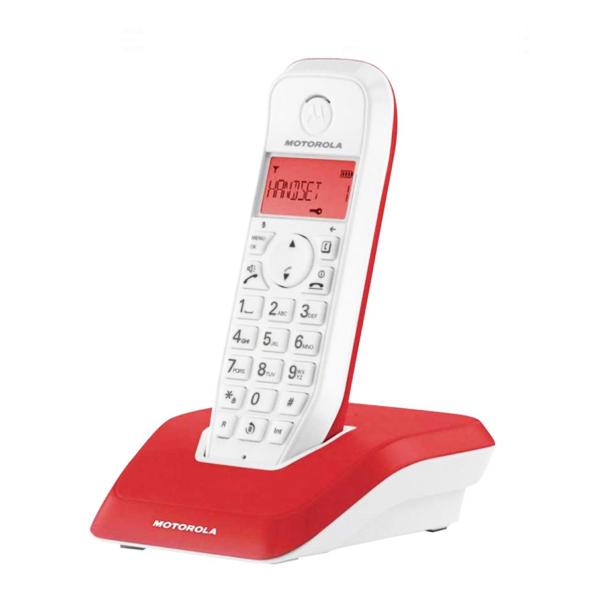 Telefon Bezprzewodowy Motorola S1201 Czerwony