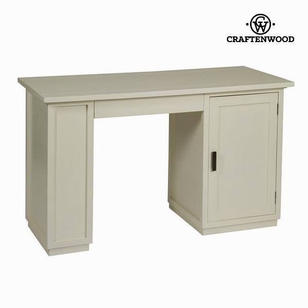 Psací stůl Dřevo mindi Bílý (130 x 78 x 55 cm) - Serious Line Kolekce by Craftenwood