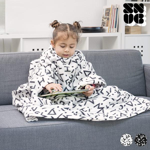 Dětská Deka s Rukávy Symbols Snug Snug One Kids - Bílý