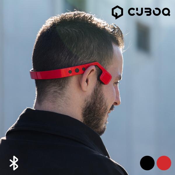 Bluetooth Sluchátka s Technologií Vedení Zvuku Kostí CuboQ - Červený