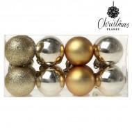 Vianočné gule Christmas Planet 6967 4 cm (16 uds) Zlatá