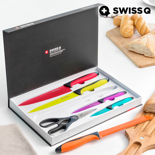 Nože z Nerezové Oceli Swiss Q High Quality (6 kusů)