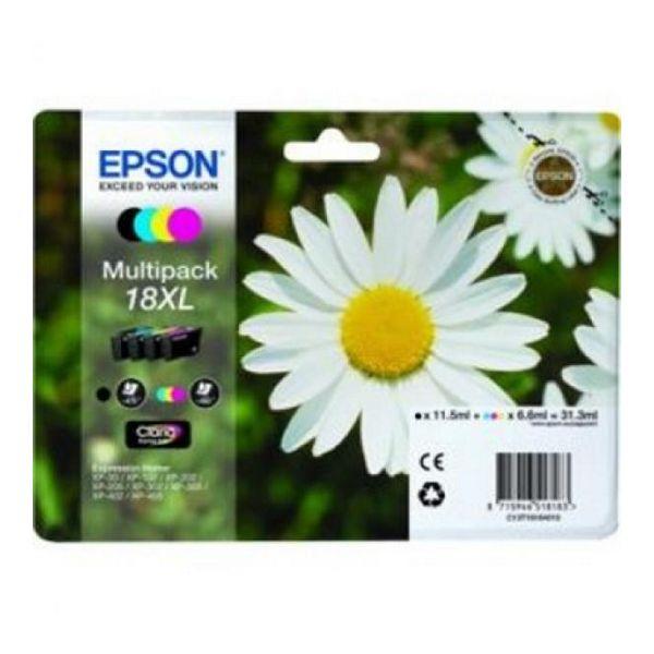 Originální inkoustové náplně Epson C13T18164010 Černý Žlutý Azurová Purpurová