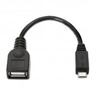 USB 2.0 A - Micro USB B Kábel NANOCABLE 10.01.3500 15 cm