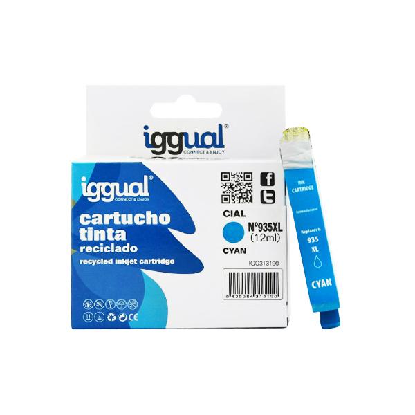 Recyklovaná Inkoustová Kazeta iggual HP IGG313190 Azurová