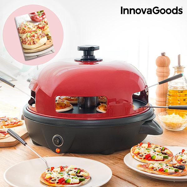 Elektrická Trouba na Mini Pizzy s Knihou Receptů Presto! InnovaGoods 700 W Červeno-černá