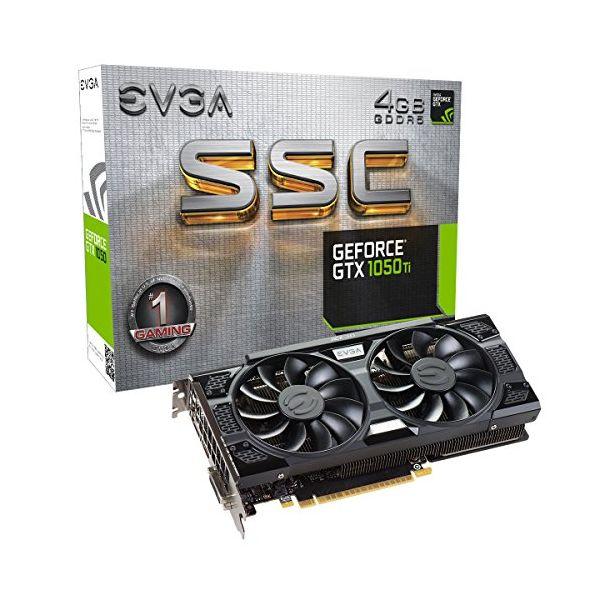 Herní grafická karta EVGA 04G-P4-6255-KR GTX 1050 TI SSC 4 GB DDR5