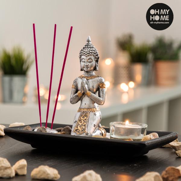 Dekorační Set Buddha se Svíčkou a Vonnými Tyčinkami Oh My Home (9 částí)