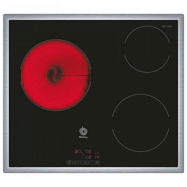 Sklokeramická deska Balay 3EB714XR 60 cm Černý (3 místo pro vaření)