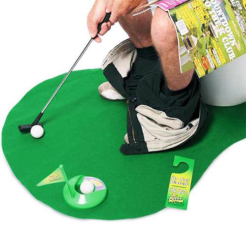 Zestaw do Gry w Golfa w Toalecie