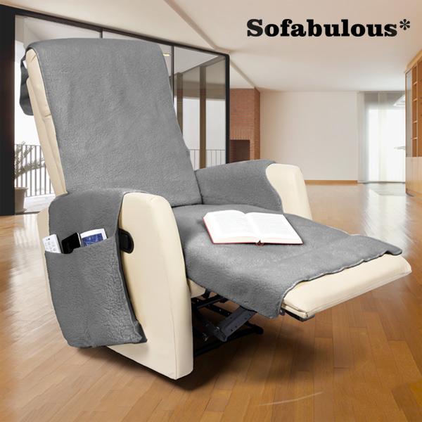 Pokrowiec na Fotel z Kieszonkami Sofabulous