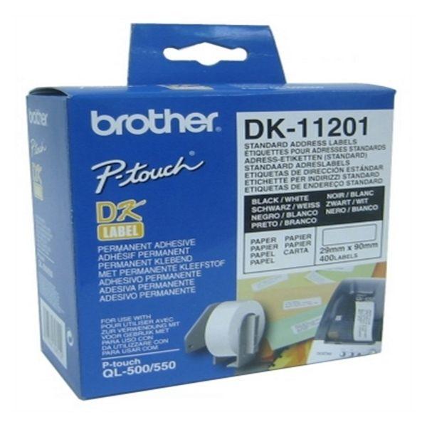 Štítky do Tiskárny Brother DK11201 29 x 90 mm Bílý