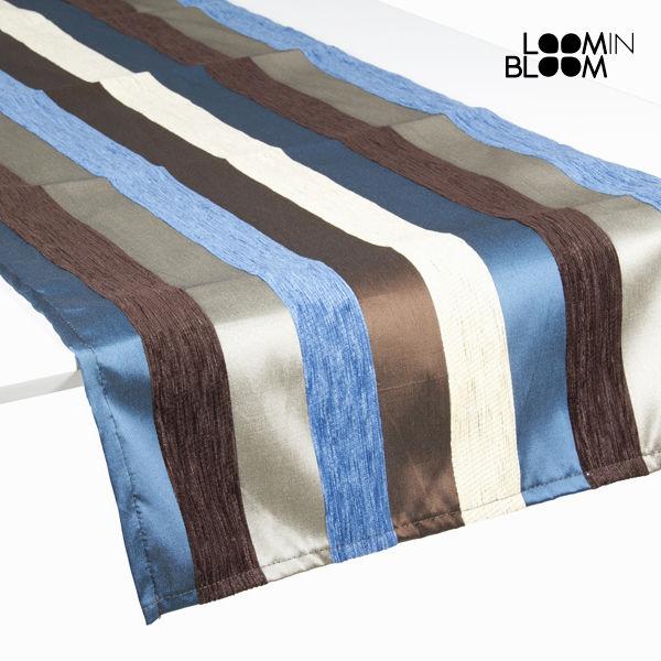 Ubrus Modrý (135 x 40 cm) - Colored Lines Kolekce by Loom In Bloom