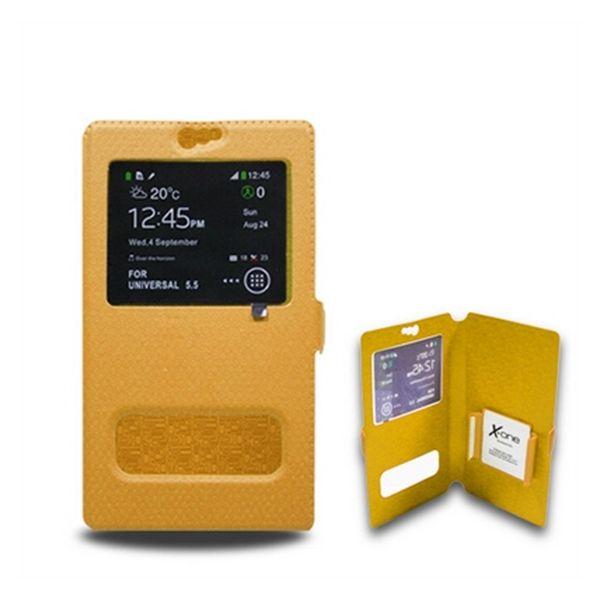 Univerzální pouzdro na mobilní telefon s okénkem Ref. 106740 Velikost S Oranžový