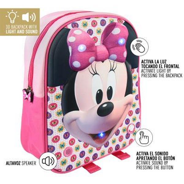 Plecak szkolny 3D Minnie Mouse
