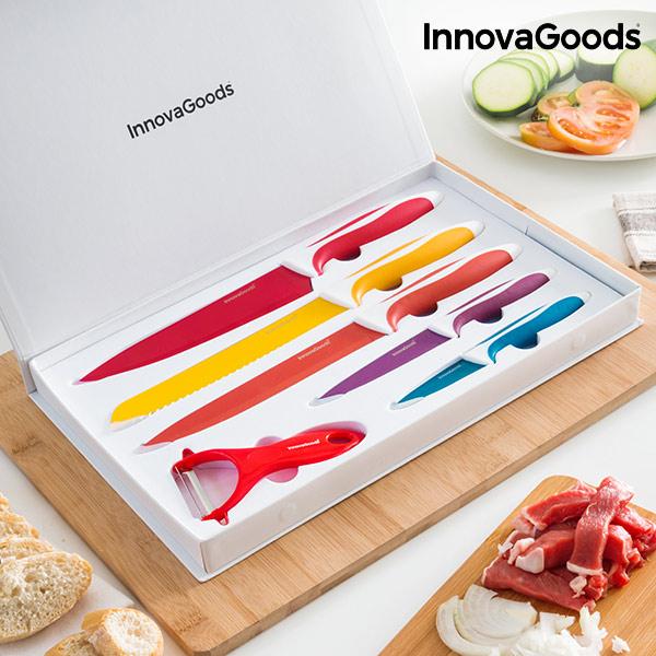 Sada Keramických Nožů se Škrabkou InnovaGoods (6 částí)
