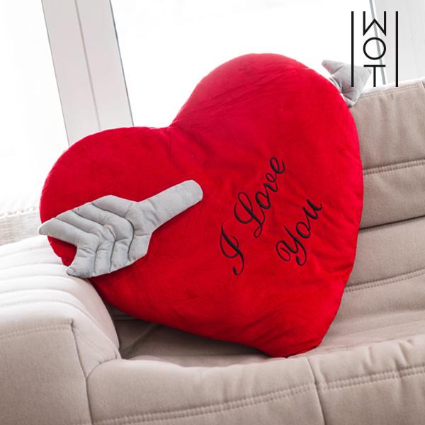 Poduszka Serce ze Strzałą I Love You Wagon Trend (60 cm)