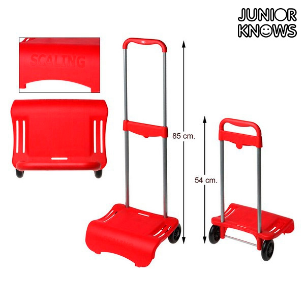 Skládací vozík na tašky Junior Knows 88261 (80 x 28 cm) Červený