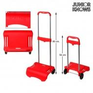 Składany Stojak na Plecaki-Wózek Junior Knows 88261 (80 x 28 cm) Czerwony