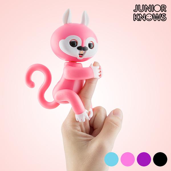 Interaktivní Veverka s Pohyby a Zvuky Junior Knows - Růžový