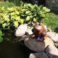 Keramická žába - sedící