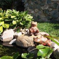 Keramická žába legrační - sedící