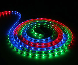 Barevné RGB LED pásky